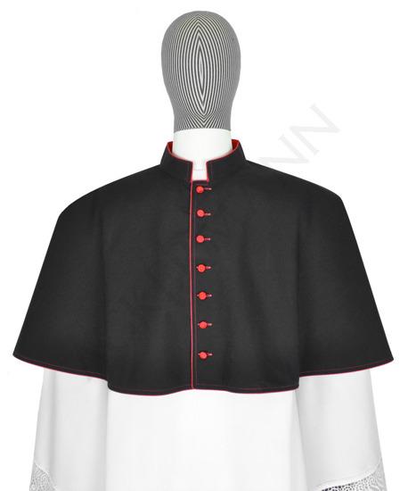 Black mozzetta with red trim