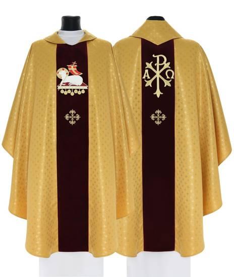 Gold Gothic Chasuble Lamb model 800