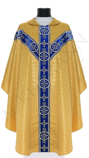 Gold Marian Semi Gothic Chasuble model 579
