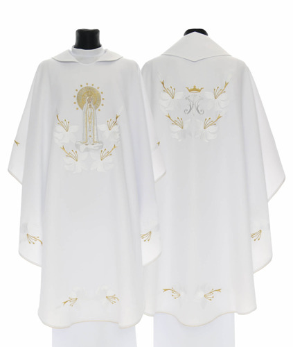 Gothic Chasuble Our Lady of Fatima model 727