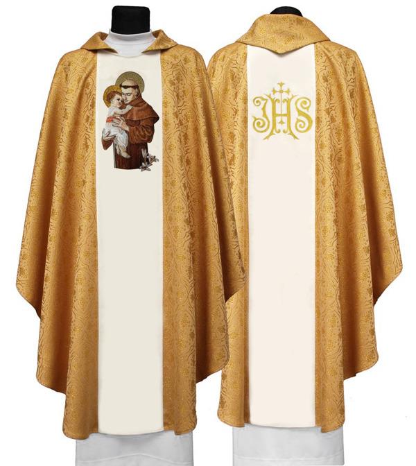 Gothic Chasuble St Anthony of Padua model 416