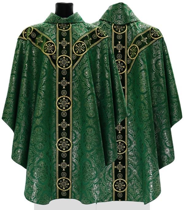 Green Semi Gothic Chasuble model 579