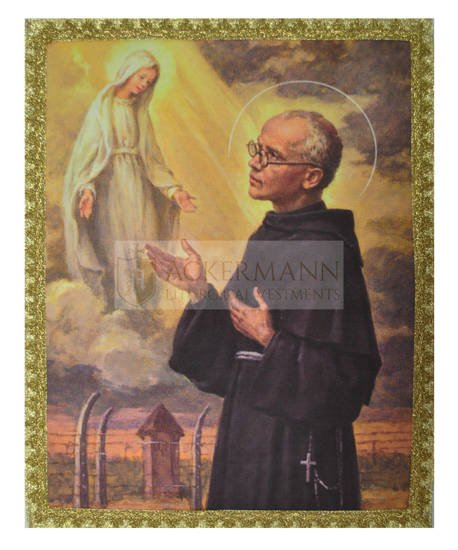 """Picture on the fabric """"St. Maximilian Kolbe"""""""