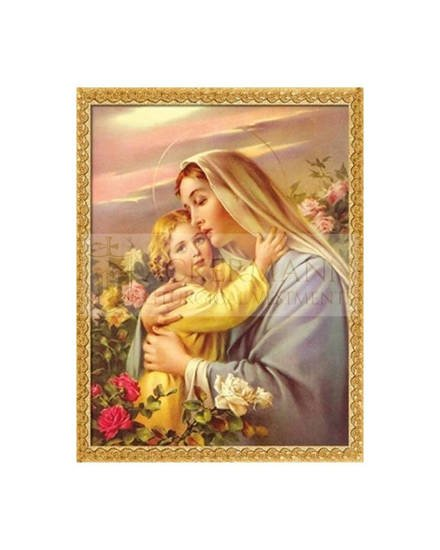 """Picture on the fabric """"the Blessed Virgin Mary"""""""