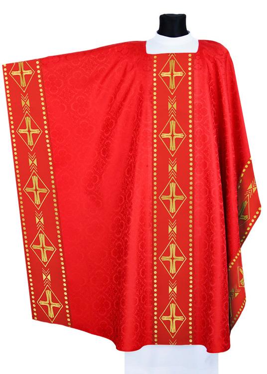 Red Monastic Chasuble model 553