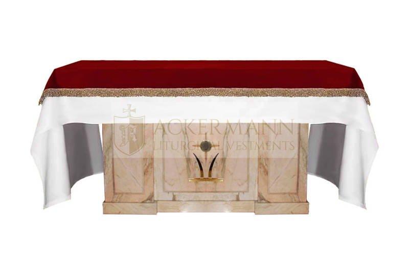 cover for the altar made of velvet
